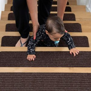 EdenProducts Patent Pending Non-Slip Carpet Stair Treads