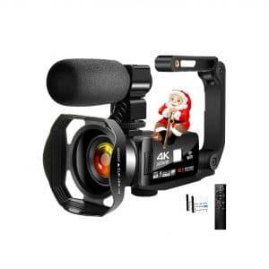 Lincom Tech 4K Camcorder Digital Video Camera