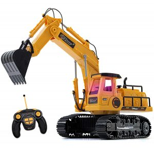 Top Race RC Excavator, Battery Powered With Lights and Sound (TR-111)