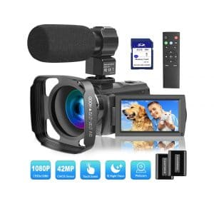 VideoSky 1080P 30FPS Digital Recording Camcorder 64 GB Memory