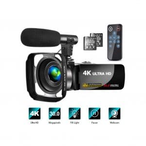 LINNSE 4K Video Camera with Microphone