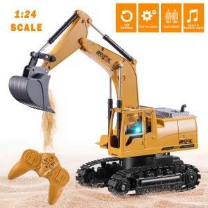Tuptoel Remote Control Excavator with Flashlights for Boys and Girls