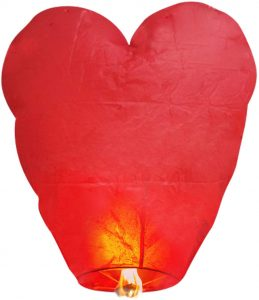 BATTIFE Heart ECO Chinese Sky Lanterns