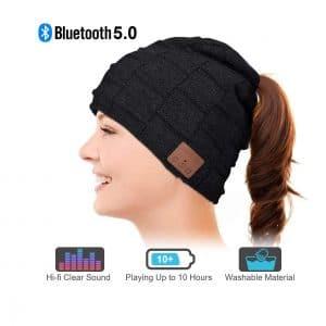 WINONLY Bluetooth Beanie Hat Ponytail Design