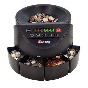 Cassida C100 110 VAC Electronic Coin Counter/Sorter