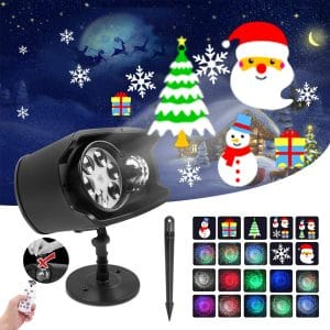 KAREEME Holiday Projector Lights Outdoor 2-In-1