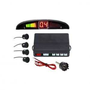 Zone Tech Car Reverse Radar System with 4 Parking Sensors and LED Display