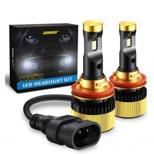 CAR ROVER 60W 12000Lumens Extremely Bright 6000K H8 H9 CSP Chips Conversion Kit H11 LED Headlight Bulb