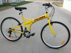Columba SP26S_YLW 26-inch Folding Bike