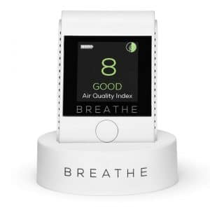 BREATHE Smart Portable Air and Pollution Quality Monitor