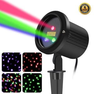 SUNYAO 3 Color Motion Laser Christmas Lights Projector