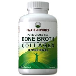 Bone Broth Collagen Protein Peptides Types 1, 2, and 3 Capsules Friendly Tablets
