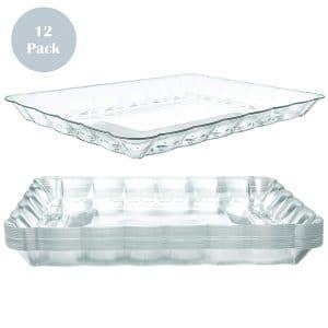 Prestee Plastic Serving Trays