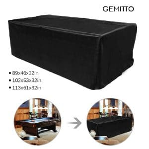 GEMITTO 7/8/9 ft Cover for pool table