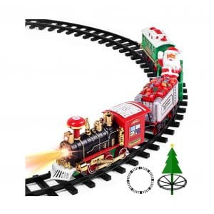 AOKESI Toy Train Set with Sounds and Lights