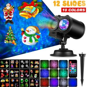 Outry Christmas 2-In-1 Moving Patterns LED Projector Lights