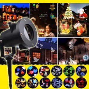DZQZR Halloween Christmas Projector Lights