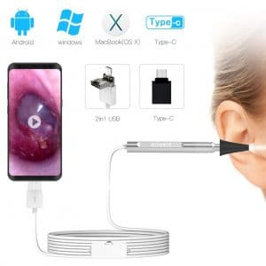 Anykit USB Otoscope Ear Scope Camera 6 Adjustable LED Lights