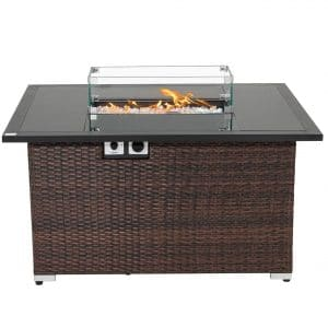 Sunbury Outdoor 44 inches Modern Concrete Fire Pit Table