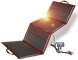 DOKIO 200W Monocrystalline Foldable Solar Panel
