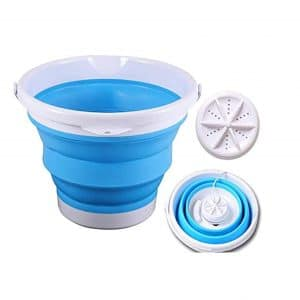 Heilsa Portable Mini Turbo Washing Machine with Foldable Tub Ultrasonic Turbine Washer USB Powered Mini Travel Laundry Washer Mini Turbo Washer Suit for Camping Apartments Dorms