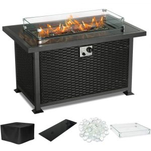 PIEDLE Outdoor Propane Gas Fire Pit
