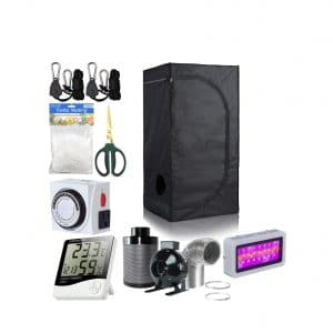 BloomGrow 24 x 24 x 48-Inches 300W LED Light Grow Tent