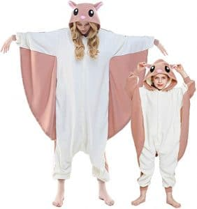 Spooktacular Creations Unisex Adult Pajama Plush Onesie One Piece Flying Squirrel Animal Costume