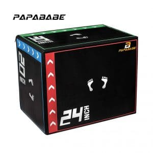 PAPABABE 3-In-1 Foam Plyometric Box for Jumping
