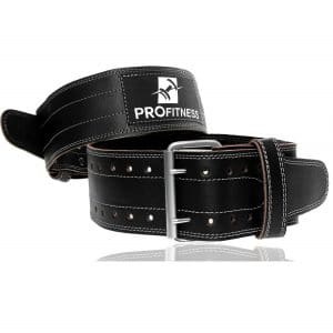 ProFitness Genuine Leather Workout Belt
