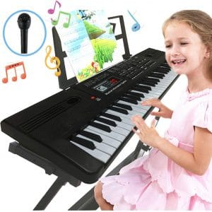 Semart Piano Keyboard 61 Keys with LCD Screen Display
