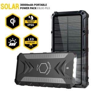 Movic 30000mAh Solar Power Bank