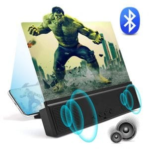 WILEVLA 3D Phone Screen Magnifier with Bluetooth