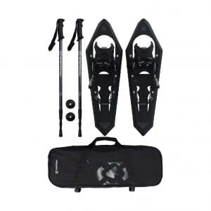 Winterial Onyx Premium 25 Inches Snowshoes with Adjustable Poles
