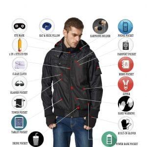 BOMBAX Travel Jacket for Men with 10 Pockets