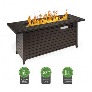 Best Choice Products 57 Inches 50,000 BTUs Aluminum Gas Fire Pit