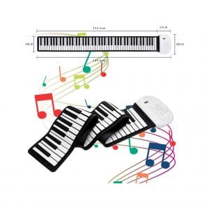 JAEZZIY Roll Up Piano 88 Keys Digital Piano
