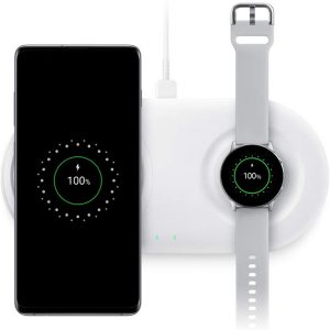 Samsung Wireless Charger DUO Pad, Fast Charge 2.0 (US Version with Warranty) - White