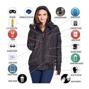BOMBAX Women Travel Jacket with 10 Pockets