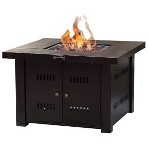 LEGACY HEATING Square Gas Fire Table
