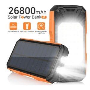 Panergy Waterproof 26800mAh Solar Power Bank