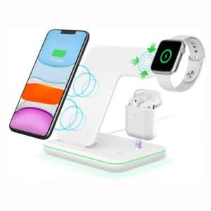 Intoval Wireless Charger,Wireless Charging Stand for Apple Watch Series 5 4 3 2 1:Airpods,Qi Fast Wireless Charging Station