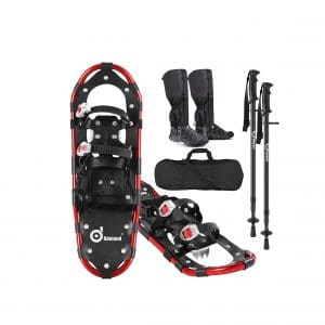 Odoland 4-In-1 Snowshoes for Men and Women