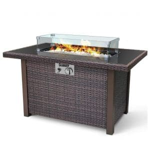 BLUBERY 44'' Propane Fire Pit Table