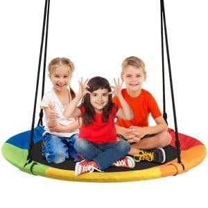 Costzon Waterproof Saucer Tree Swing Set