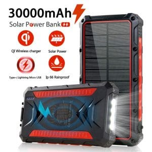 Feeke 30000mAh Solar Power Banks