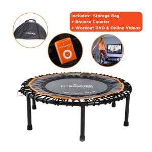 MXL Fit Bounce Pro Bungee Rebounder Folding Mini Trampoline