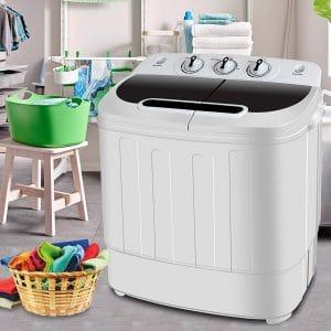 SUPER DEAL Portable Compact Twin Hub Washing Machine