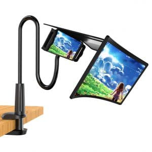 WANTU Phone Screen Magnifier with Gooseneck Stand