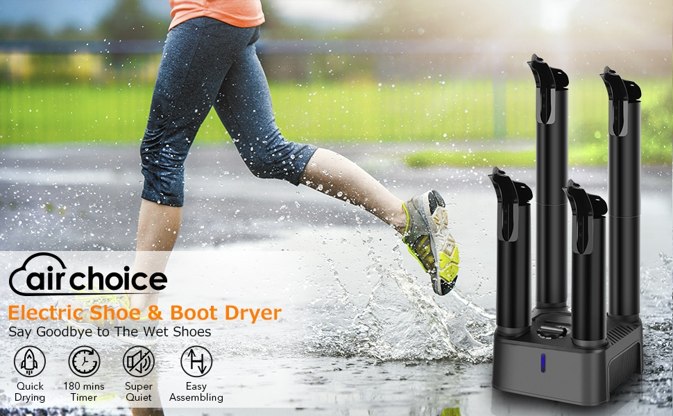 3//6//9 Hours Timed Auto Self Off Ski Boots Dryer Shoe /& Boot Warmer to Dry Sweaty Shoes /& Eliminate Bad Odor Snowpea Electric Shoe Dryer White, Standard UK Plug